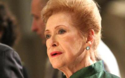 Mary Higgins Clark is seen in this 2011 file photo during the annual St. Patrick's Day Mass in New York City.
