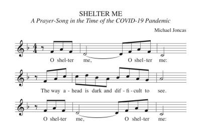 This is a piece of sheet music for a hymn composed by Father Michael Joncas for this time of the coronavirus pandemic.