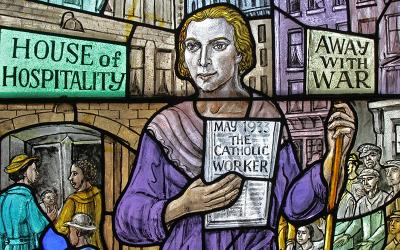 Dorothy Day, co-founder of the Catholic Worker Movement, is pictured in an undated photo.