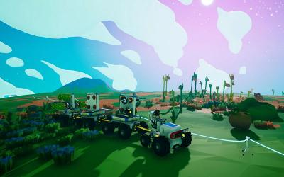 """This is a scene from the video game """"Astroneer."""""""