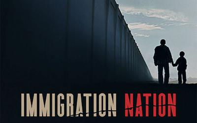 "This is the TV poster for the documentary ""Immigration Nation"" streaming on Netflix."