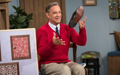 "Tom Hanks stars in a scene from the movie ""A Beautiful Day in the Neighborhood."""