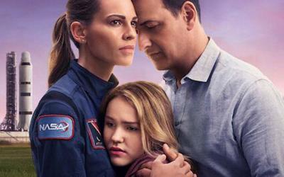 "Hilary Swank, Josh Charles and Talitha Eliana Bateman star in ""Away"" streaming on Netflix."