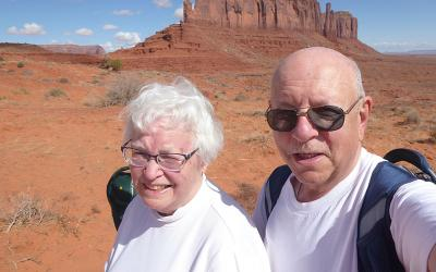 Milly and Mike Pungercar of Springfield, Ore., are seen at Utah's Monument Valley Tribal Park in this undated photo.