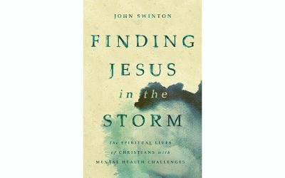 "This is the book cover of ""Finding Jesus in the Storm: The Spiritual Lives of Christians With Mental Health Challenges"" by John Swinton."
