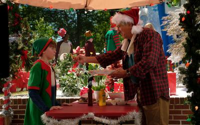 """Robert De Niro and Oakes Fegley star in a scene from the movie """"The War with Grandpa."""" The Catholic News Service classification is A-II -- adults and adolescents."""