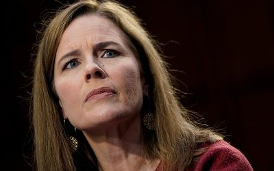 Judge Amy Coney Barrett of the U.S. Court of Appeals for the 7th Circuit, President Donald Trump's nominee for the U.S. Supreme Court, speaks Oct. 13, 2020, before the Senate Judiciary Committee on Capitol Hill in Washington during her confirmation hearing.