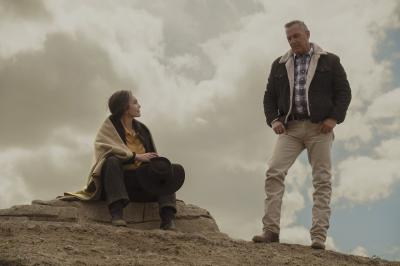 """Diane Lane and Kevin Costner star in a scene from the movie """"Let Him Go."""""""