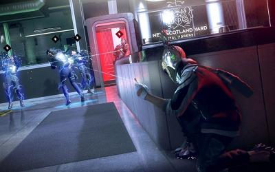 "This is a scene from the video game ""Watch Dogs: Legion."""