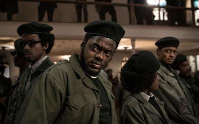 "Darrell Britt-Gibson, Daniel Kaluuya and LaKeith Stanfield star in a scene from the movie ""Judas and the Black Messiah."""