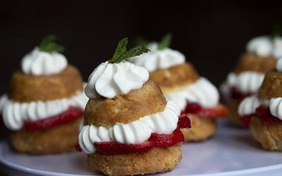 This strawberry lemon shortcake is very light but intensely flavorful, and it will brighten your Easter celebration.