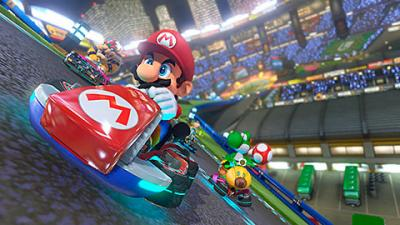 """This is an image from the video game """"Mario Kart 8."""" The Catholic News Service classification is A-I -- general patronage. The Entertainment Software Rating Board rating is E -- everyone."""