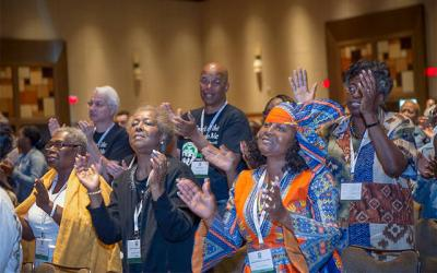 <p>Delegates from Rochester attend the National Black Catholic Congress XII in July 2017. </p>