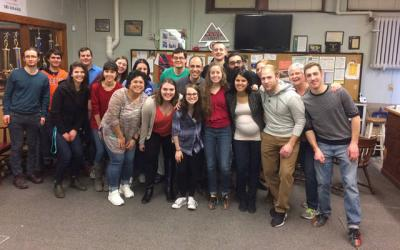 <p>Young adults from Southeast Rochester Catholic Community and St. Kateri Tekakwitha Parish gathered for fellowship and bowling Feb. 17 at the St. Boniface Church Bowling Alley.  </p>