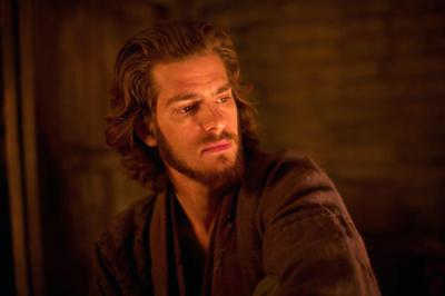 "Andrew Garfield stars as Father Sebastian Rodrigues in a scene from the movie ""Silence."" Garfield underwent the spiritual exercises of St. Ignatius of Loyola, founder of the Society of Jesus, as part of his preparation for playing a Jesuit priest in Martin Scorsese's new film."
