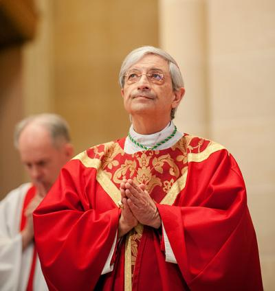 Bishop Salvatore R. Matano celebrates Mass Nov. 6 at Rochester's Sacred Heart Cathedral. (Courier photo by Mike Crupi)