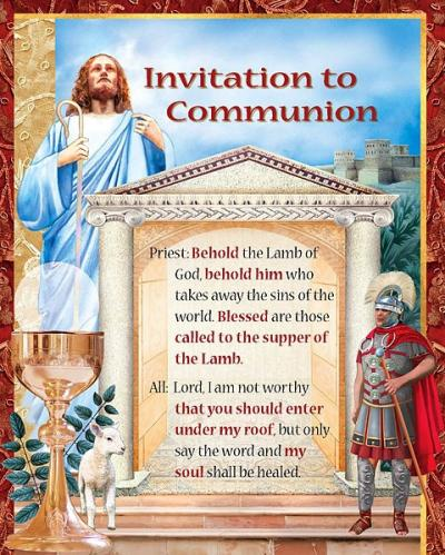 The Invitation to Communion in the newly translated Roman Missal references the story of the centurion in Luke 7:6-7. (Courier illlustration by Linda Jeanne Rivers)