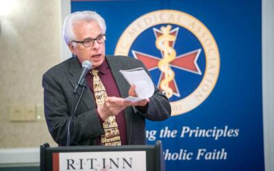 "<p>Wesley Smith gave talks on ""Medical Conscience"" and ""The Threat of Utilitarian BioEthics and Assisted Suicide"" during a May 5 Catholic medical conference in Henrietta presented by the Catholic Medical Association's Finger Lakes Guild.  </p>"