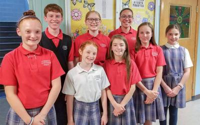 <p>Students from St. Francis-St. Stephen School in Geneva competed in the First Annual St. Francis de Sales Oratorical Contest May 21.  </p>