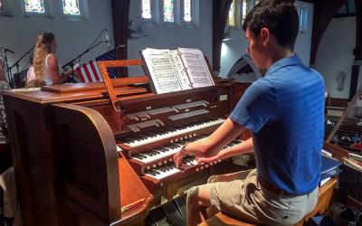 <p>Recent college graduate Chris Davenport is served as music director at Ithaca's Immaculate Conception Church. (Photo courtesy Chris Davenport)</p>