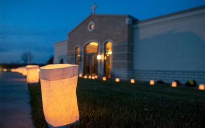 <p>Ascension Garden, a Holy Sepulchre Cemetery located in Henrietta, held its first annual Luminary Lighting of Remembrance in 2015. The public is invited to attend a Night of Light Luminaries Remembrance on Saturday, Nov. 3, at Holy Sepulchre Cemetery, 2461 Lake Ave., Rochester, and Saturday, Dec. 1, at Ascension Garden, 1900 Pinnacle Road, Henrietta. (Courier file photo)  </p>