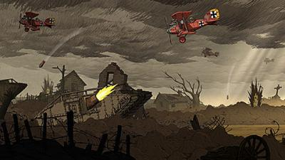 """This is an image from the video game """"Valiant Hearts: The Great War."""" The Catholic News Service classification is A-II -- adults and adolescents. The Entertainment Software Rating Board rating is T -- teens."""