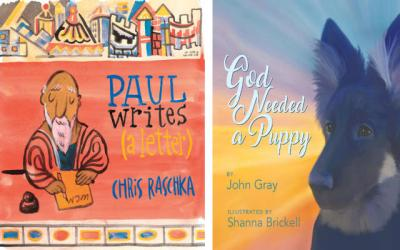 <p>Regina Lordan reviews <em>Paul Writes (a Letter)</em> by Chris Raschka and <em>God Needed a Puppy</em> by John Gray, illustrated by Shanna Brickell. (Photo by CNS)  </p>