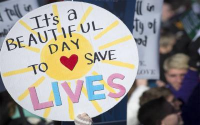"<p>A pro-life sign is displayed during the 2018 March for Life rally in Washington, D.C. ""Unique From Day One: Pro-Life Is Pro-Science"" is the theme of the 2019 march, which will take place Jan. 18. (CNS photo by Tyler Orsburn)  </p>"