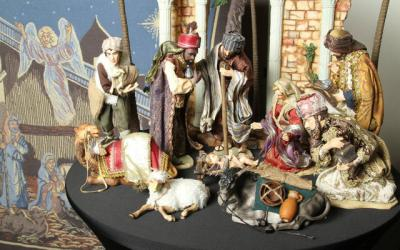 <p>This creche appears in a Christmas exhibit at the Monastery of the Holy Spirit in Conyers, Ga., and is from a collection owned by Marcy Borkowski-Glass of St. Pius X Church in Covington. The exhibit, which was to end Christmas Eve, showcased some 500 Nativity scenes from Glass' personal collection and a select few from the monastery. (CNS photo by Michael Alexander)  </p>