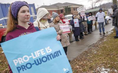 <p>Lillian Lickona of Groton, along with more than 40 other participants, take part in the third-annual Ithaca March for Life Jan. 18.  </p>