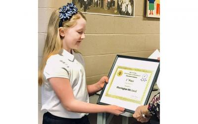 <p>Kherington McLoud placed first in her division in both the local and state portions of the Catholic Daughters of the Americas&rsquo; annual essay contest. (Photo courtesy of Our Lady of the Lakes Catholic Community)  </p>