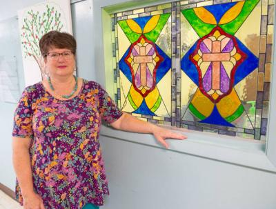<p>Lorraine Williams is the new principal at St. Francis-St. Stephen School in Geneva. (Courier photo by John Haeger)  </p>