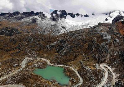 """A view of a glacial lake is seen in Huascaran National Park in Peru in late September. Catholic organizations are counting on """"mobilizing church communities"""" and """"raising worldwide awareness"""" at the  2013 U.N. Climate Change Conference to be held Nov. 11-22 in Warsaw, Poland."""