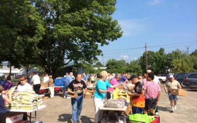<p>File photo of Tioga County Rural Ministry Food giveaway. </p>