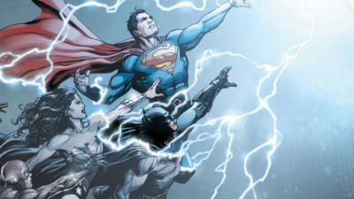 """This is an image from """"DC Universe: Rebirth,"""" the famed publisher's new series of comics through which it aims to retool its cosmos. The Catholic News Service classification is A-II -- adults and adolescents. The DC Comics rating is T -- teen."""