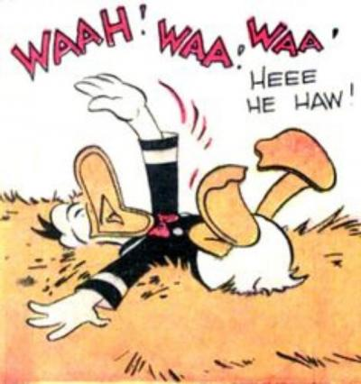 This is an image by legendary Disney comic book artist Carl Barks.