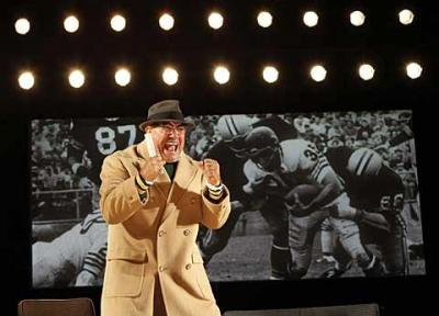 """Dan Lauria stars in the Broadway production of """"Lombardi,"""" opening Oct. 21 at the Circle in the Square Theatre in New York. The actor brings to the stage the famed coach's deep Catholic faith and his determination to excel."""