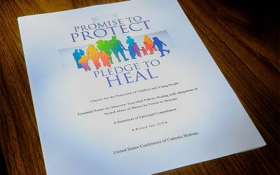 """The cover of the USCCB """"Charter for the Protection of Children and Young People."""" (CNS photo illustration by Rick Musacchio, Tennessee Register)"""
