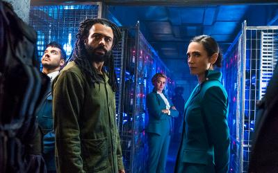 "Sam Otto, Daveed Diggs, Alison Wright and Jennifer Connelly star in a scene from the miniseries ""Snowpiercer"" airing on TNT."