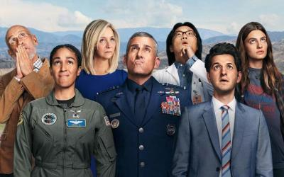 """This is the TV poster for the Netflix original series """"Space Force."""""""