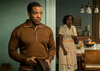 "Russell Hornsby and Viola Davis star in a scene from the movie ""Fences."" The Catholic News Service classification is A-III -- adults. The Motion Picture Association of America rating is PG-13 -- parents strongly cautioned. Some material may be inappropriate for children under 13."