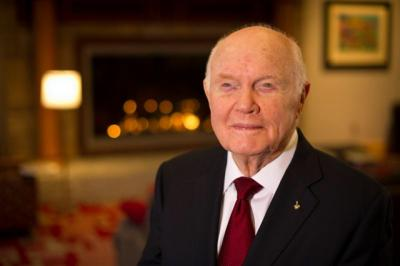 U.S. astronaut John Glenn, pictured in a 2012 photo, died Dec. 8 at age 95. His 1962 flight as the first U.S. astronaut to orbit the earth made him an all-American hero and propelled him to a long career in the U.S. Senate.