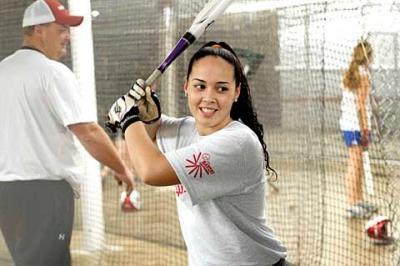 Seventeen-year-old Desarae Maldonado, a senior at Irondequoit High School, practices at The Battery Nov. 21.