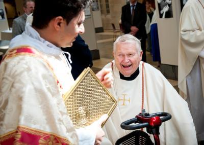 Father Thomas Wheeland is retiring as pastor of Holy Cross Parish.