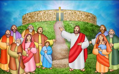 An illustration of Jesus with the apostles (Courier illustration by Linda Jeanne Rivers)