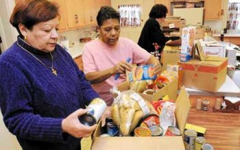 In 2008 St. Michael and Our Lady of Perpetual Help parishes in Rochester used Christmas Appeal funds to give needy families food and gift cards.