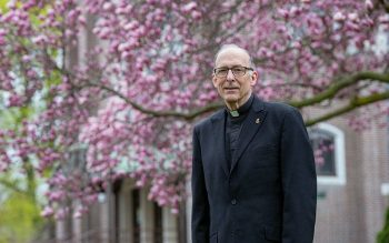 Father Robert Schrader, a diocesan priest for 43 years, will reach senior status in June. (Courier photo by Jeff Witherow)