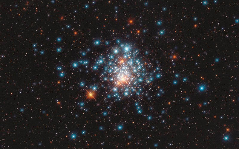 Colorful stars are packed close together in the globular cluster NGC 1805 in the Dorado constellation, in this image from the Hubble Space Telescope released Sept. 11, 2020. The Vatican Observatory foundation has new podcast as well as a new website and online store where you can buy posters of outer spaces scenes. (CNS photo by J. Kalirai, NASA/ESA/Hubble via Reuters)