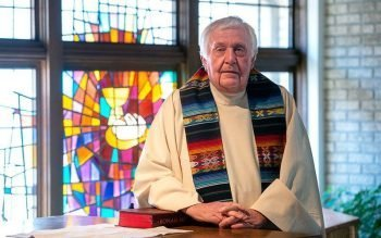 Father Michael Bausch will reach senior status in June after 42 years of priestly ministry.
