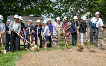 Catholic Family Center broke ground on a new Barrington House June 1 on Ridge Road East in Rochester. The house will serve as an addiction treatment community residence for women and children. (Courier photo by Jeff Witherow)